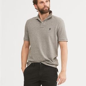 Polo Ralph Lauren Classic Fit Mesh Polo Gray XL
